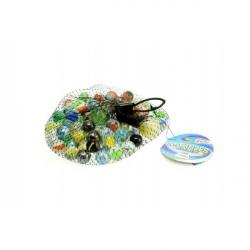 Guličky cvrnkací sklenené farebné cca 90ks 500gr v sieťke