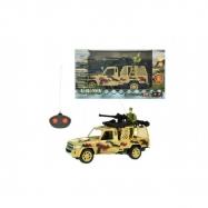 Auto RC vojenskej na diaľkové ovládanie 27MHz plast 20cm na batérie so svetlom asst 2 druhy v krabici