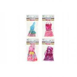 Oblečky / Šaty pre bábiky 13cm asst
