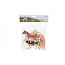 Zvieratá farma plast 11-16cm 5ks v sáčku