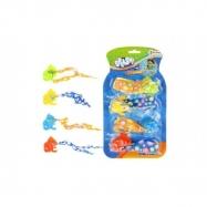 Rybičky na potápění v bazénu 4ks plast 10cm na kartě