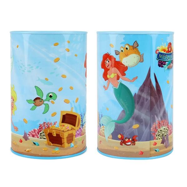 Pokladnička Mermaids / Morské panny plechová 10x15cm v sáčku