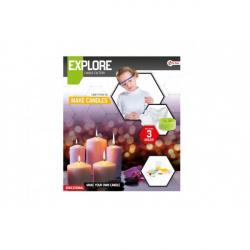 Výroba sviečok vedecká hra s formičkami v krabici 27x31x5cm