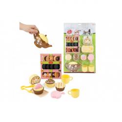Plastikowy zestaw do herbaty z akcesoriami 23 szt