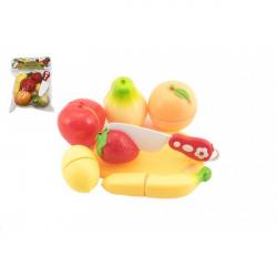 Ovocie krájacie plast s doskou 13,5x8cm s nožom v sáčku 18x26x5cm