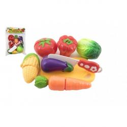 Zelenina krájacie plast s doskou 13,5x8cm s nožom v sáčku 18x26x5cm