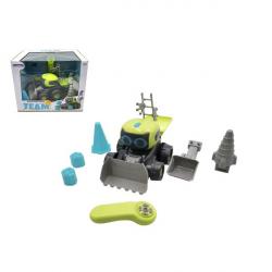 Auto/Stavební stroj RC plast 15 x 20 cm na baterie s doplňky
