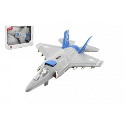 Lietadlo / stíhačka plast 31cm na batérie so svetlom so zvukom v krabici 32x22,5x9cm