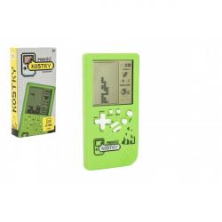 Digitálna hra Padajúce kocky hlavolam plast 14x7cm na batérie so zvukom v krabičke 7,5x14,5x2,5cm