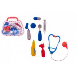 Sada doktor / lekár plast v plastovom kufríku 23x19x6cm v sáčku