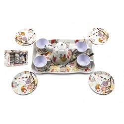 Zestaw do herbaty blaszanych sztućców 15 sztuk w pudełku