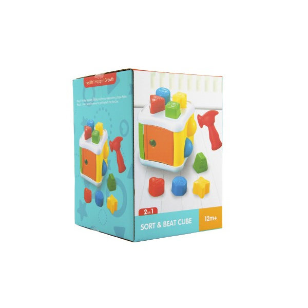 Vkládačka / Zatloukačka 2 v 1 plasts kladívkem a doplňky