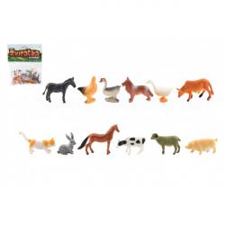 Zvieratká mini domáci farma plast 4-6 cm 12ks v sáčku