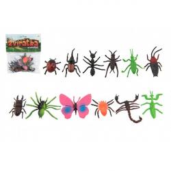 Hmyz / zvieratko mini plast 4-8cm 12 ks v sáčku