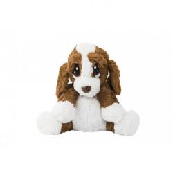 Pes / psík sediaci nahrievacie plyš 23cm v sáčku