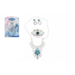 Sada princezná korunka + náhrdelník + náušnice plast na karte 18x25x3cm