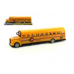 Autobus školský plast 30cm na zotrvačník v blistri