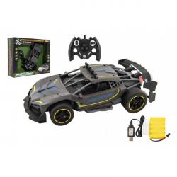 Auto RC Sport antracit 33cm plast 2,4GHz na batérie + dobíjacie pack v krabici 43x36x13cm