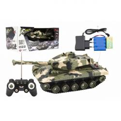 Tank RC plast 27cm 27MHz na batérie + dobíjacie pack so zvukom v krabici 37x17x19cm