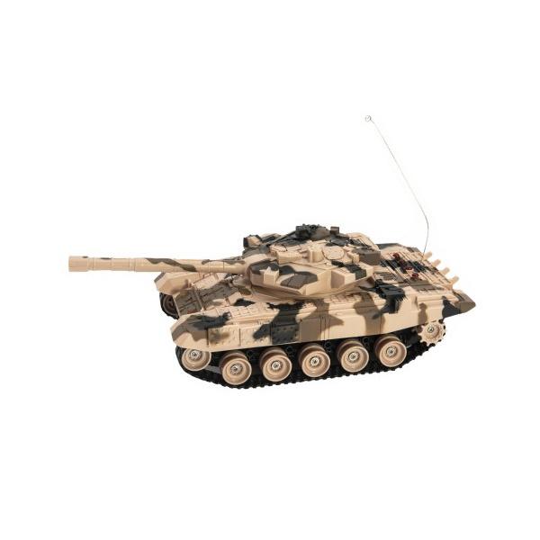 Tank RC plast 27cm 40MHz na baterie+dobíjecí pack se zvukem v krabici 37x17x19cm