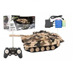Tank RC plast 27cm 40MHz na batérie + dobíjacie pack so zvukom v krabici 37x17x19cm