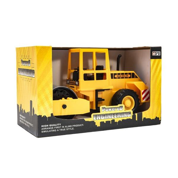 Stavebný stroj valec plast 33cm na zotrvačník v krabici 35x21x19cm