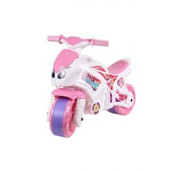 Odrážedlo motorka růžovo-bílé