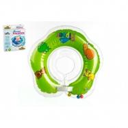 TEDDIES Kółko do pływania dla niemowląt Flipper zielone