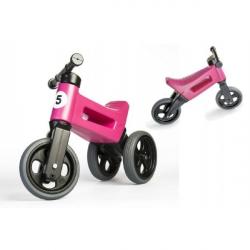 Rowerek FUNNY WHEELS NEW SPORT 2w1 nośność 50 kg, 18m+ – różowy