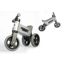 Rowerek Funny Wheels New Sport 2w1 nośność 50 kg, 18m+ – szary