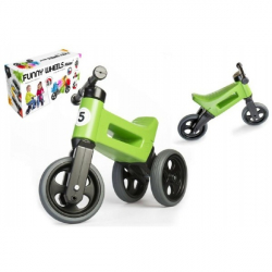 Rowerek Funny Wheels New Sport 2v1 zielony