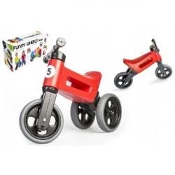 Teddies rowererek - jeździk Funny Wheels 2w1, czerwony