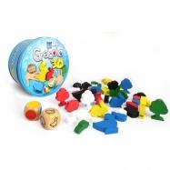 Grabolo 3D společenská hra dřevo v plechové krabičce 12x12x6