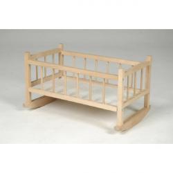 TEDDIES Kołyska dla lalek 49x28x27 cm – drewniana