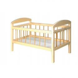 Postieľka pre bábiky drevo veľká 58,5 x 33 x 37,5 cm