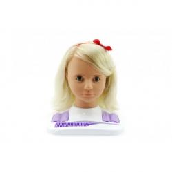 Česacia hlava Hamiro veľká blond s doplnkami