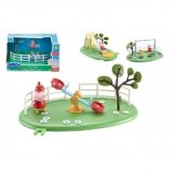 Herní prvky hřiště + figurka Prasátko Peppa plast asst