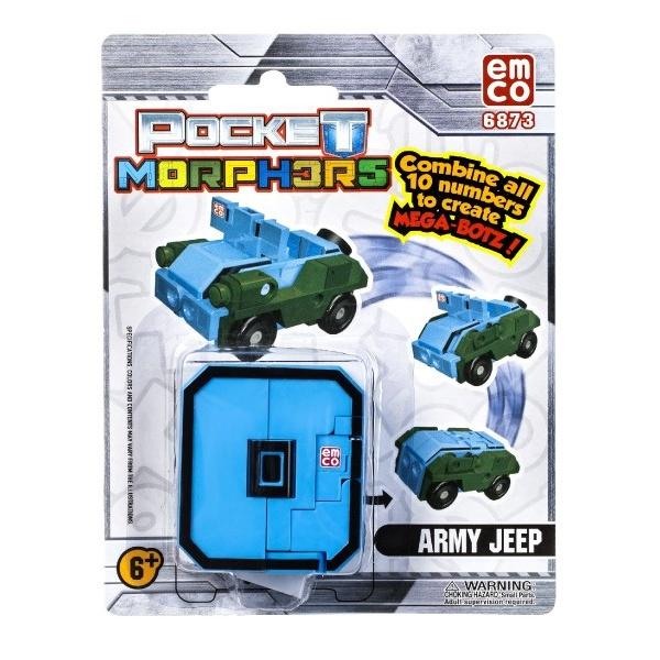 Číslo/Vozidlo Pocket Morphers plast 6cm asst mix čísel 30ks v boxu