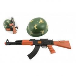 Pistole/Samopal + helma plast v síťce