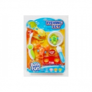 Hra ryby/rybář s doplňky 6ks plast na kartě