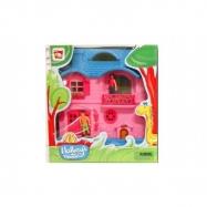 Domeček pro panenky s postavičkami plast 27cm asst
