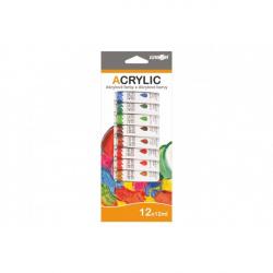 Barvy akrylové 12 ml  - 12 ks