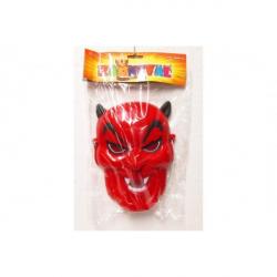 Maska čert plast 16x22 v sáčku karneval