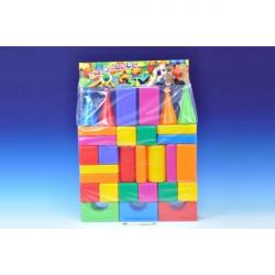 Stavebnica kocky veľké 30ks plast v sáčku 47x66x8cm