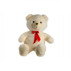 Medveď plyš 100cm s mašľou béžový 0+
