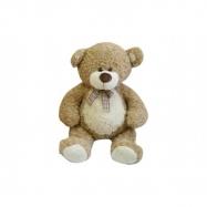 Medvěd s mašlí velký plyš 80cm béžový