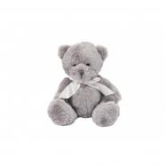 Medvěd sedící s mašlí plyš 20cm v sáčku 0+