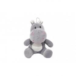 Pluszowy hipopotam 22 cm w torbie 0+