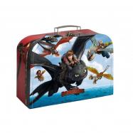 Kufrík detský školské papierový Dragons vel.25cm