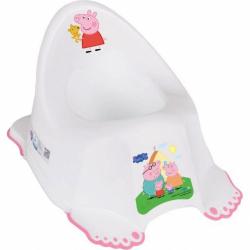 Hrajúci detský nočník protišmykový Prasiatko Peppa white-pink